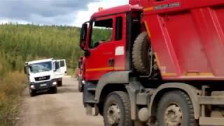 Северо-Енисейск, Скания слетела с дороги 2016