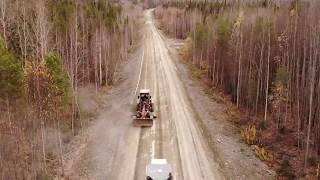 Епишино - Северо-Енисейский, Работа автогрейдера