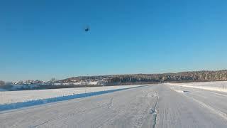 Северные дороги Сибири. Ледовая переправа р. Ангара