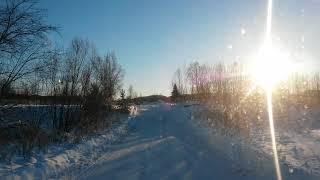 Северные дороги Сибири. Ледовая переправа Большой Пит 30 дек 2018г