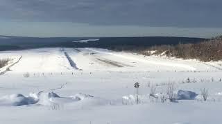 Посадка atr 42-500 Nordstar в аэропорт Северо-Енисейска