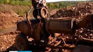 В Северо-Енисейском районе задержаны 6 групп, которые занимались назаконной добычей золота