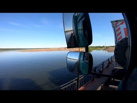 Переправляем фуру через Енисей. Северо-Енисейский.